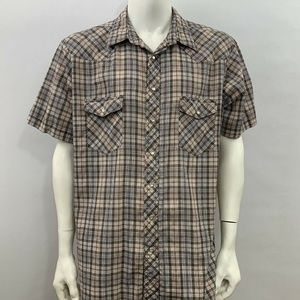 Wrangler Mens Pearl Snap Shirt SS Size XL Tall